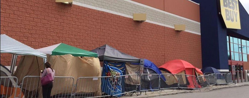 Camping out for Black Friday Sales